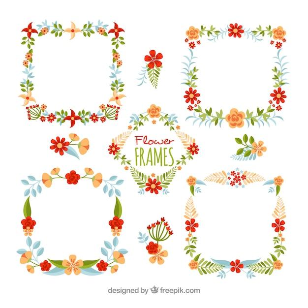 Pack of vintage floral frames