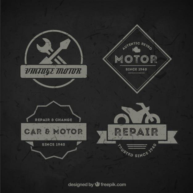 Pack of vintage motorcycle badges
