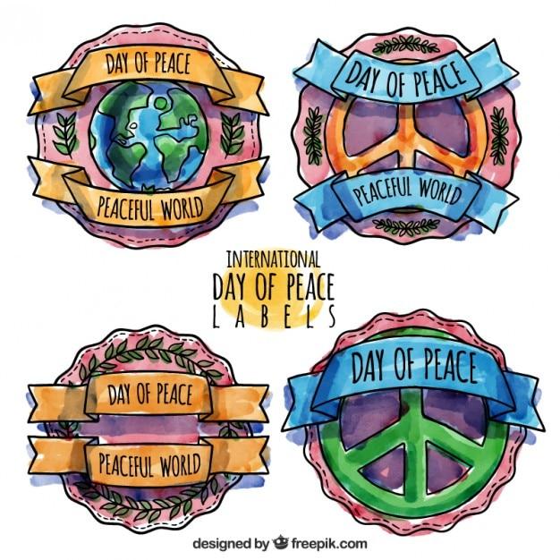 پک از مدالها را از روز صلح آبرنگ