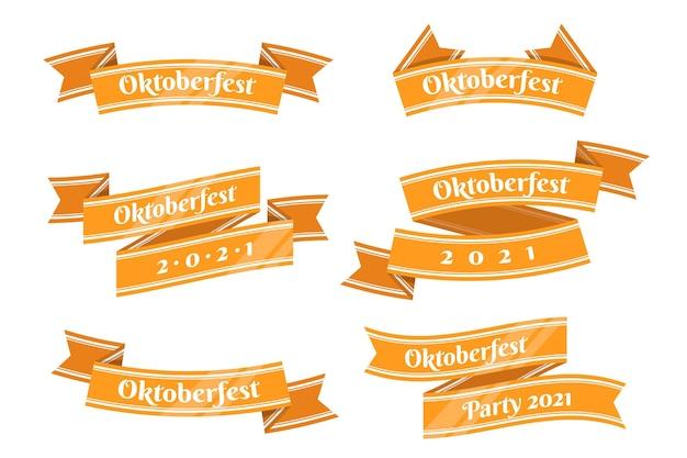 Confezione di nastri più oktoberfest Vettore gratuito