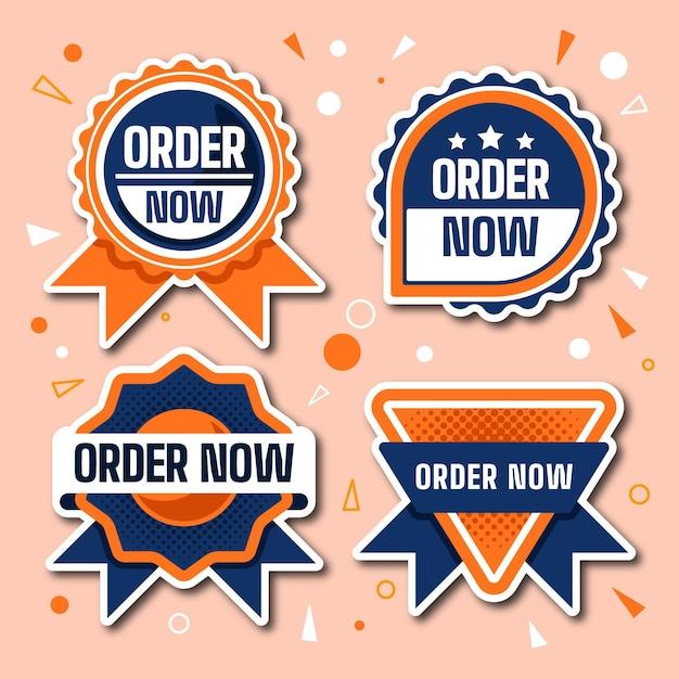 Confezione da ordinare ora adesivi Vettore gratuito