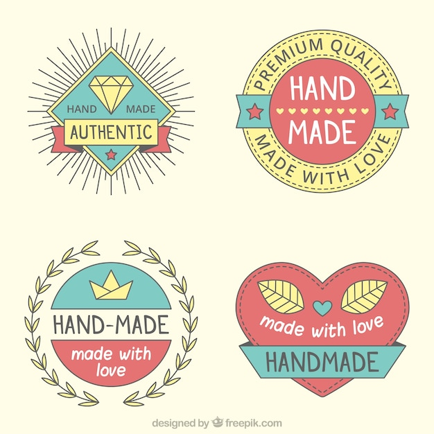 Pack Pf Vintage Craft Logos Vector Free Download