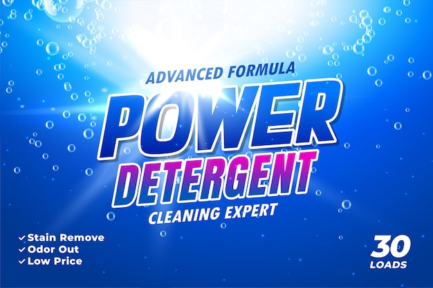 Package template for laundry detergent Free Vector
