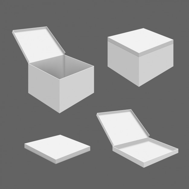 Packaging box template vector free download for Box templates vector