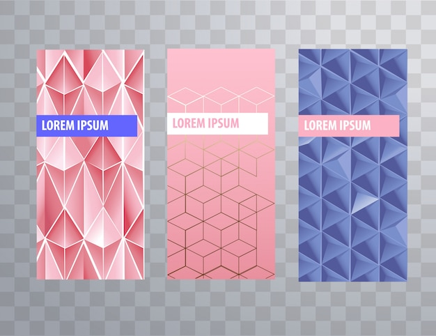 Packaging or brochure cover feminine templates Premium Vector