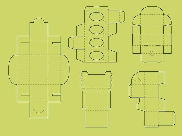 Packaging cut box templates vector vector free download packaging cut box templates vector free vector maxwellsz
