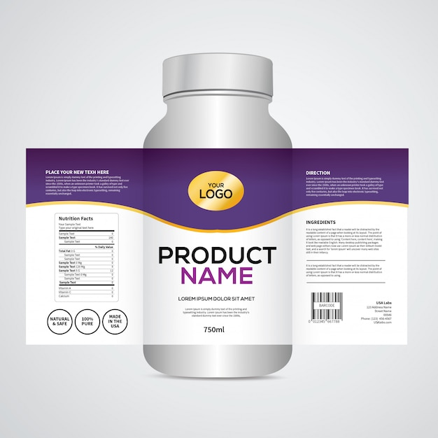 Packaging And Label Design Template Vector