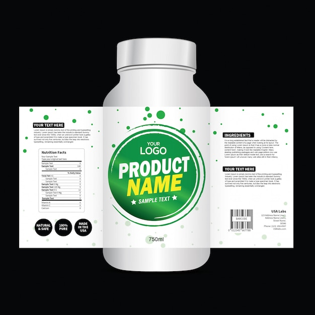 Packaging And Label Design Template