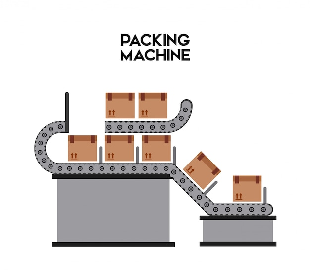 Packing machine Premium Vector
