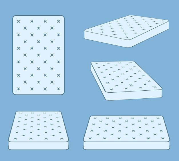 Padded comfortable sleeping bed mattress Premium Vector