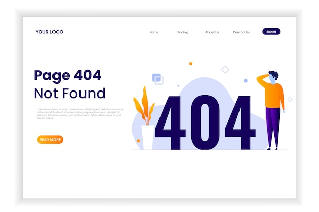 Page 404 error illustration with people Premium Vector