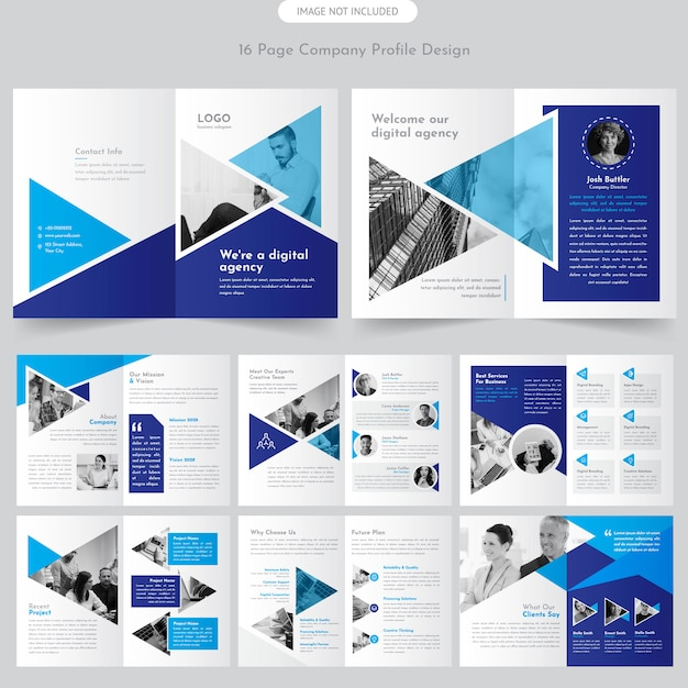 Page company profile brochure Premium Vector