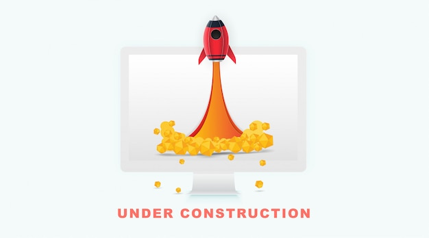 Page under construction concept in background for sites under constructions. Premium Vector