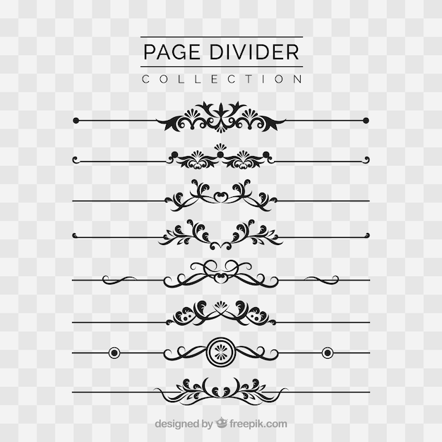 Page dividers collection without background Vector | Free ... Vertical Scrolls Clipart