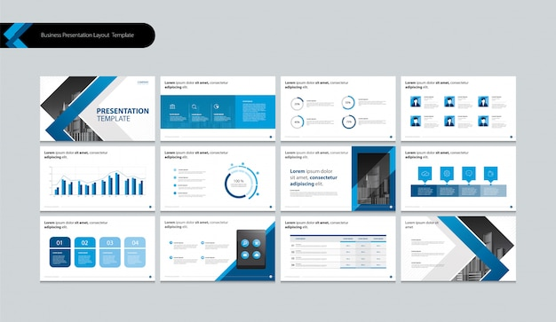 Page Layout Design For Business Presentation Brochure Book Annual Report And Company Profile Premium Vector