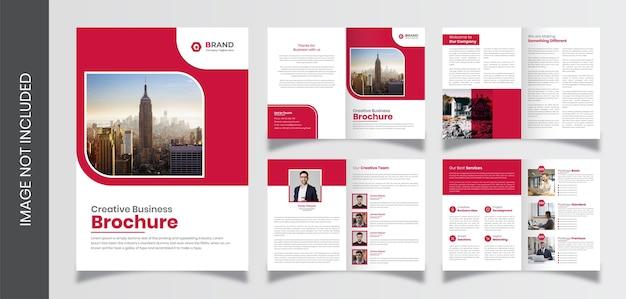 Шаблон брошюры профиля компании pages, шаблон брошюры креативного бизнеса на 8 страниц Premium векторы