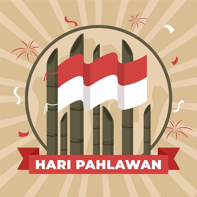 Pahlawan illustration celebration Premium Vector