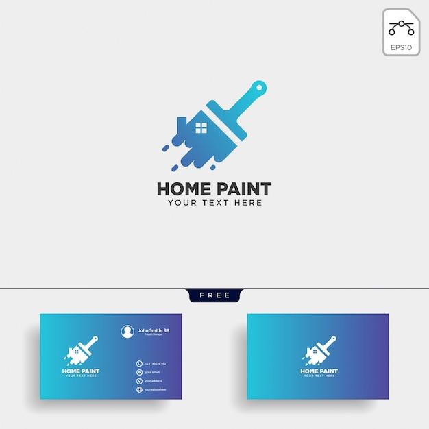 Paint brush colorful logo template vector icon element Premium Vector