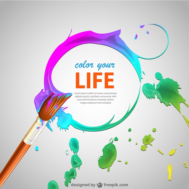 Paint brush strokes and brush background Free Vector