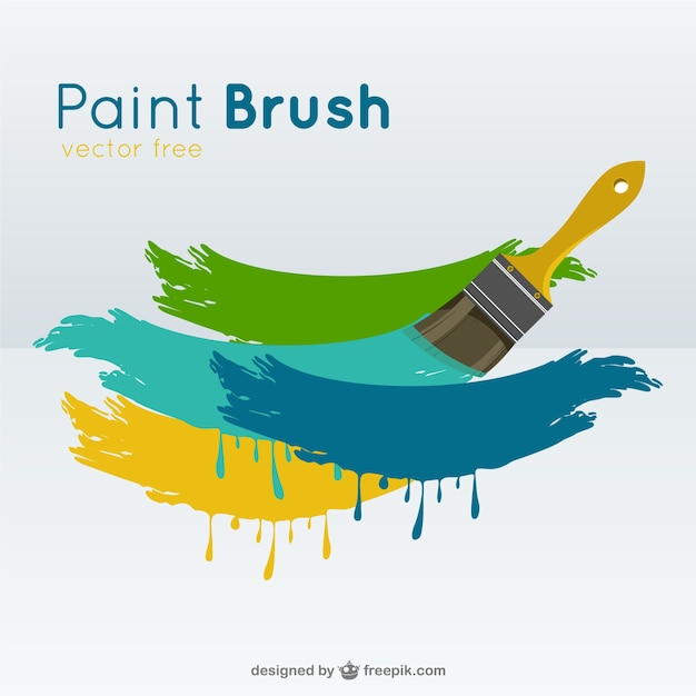 paint brush vector vector free download rh freepik com vector paint brush download vector paint brush free download