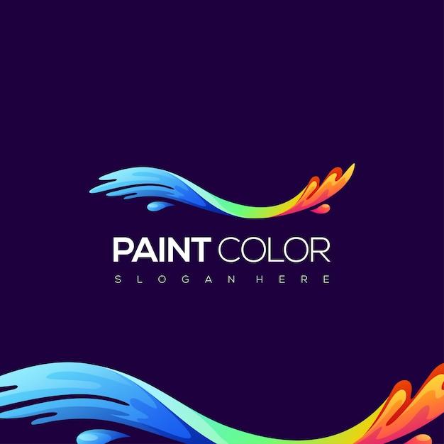 Paint color logo Premium Vector
