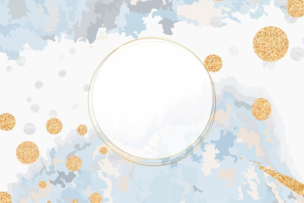 Paint pour background with round frame vector Free Vector