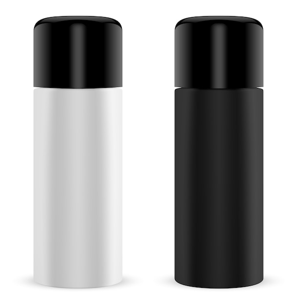 Paint spray tin. cylinder can 3d container Premium Vector