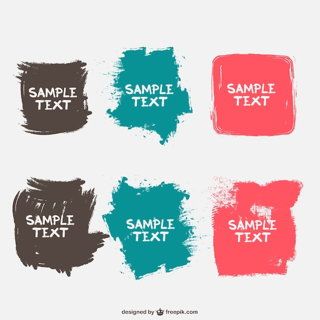 Paint stains template Free Vector