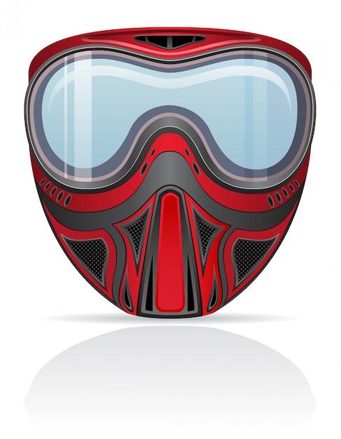 Paintball mask vector illustration Premium Vector