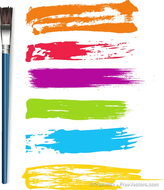 paintbrush strokes and brush brushes vector free download