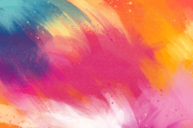 Painted background in multicoloured palette Free Vector