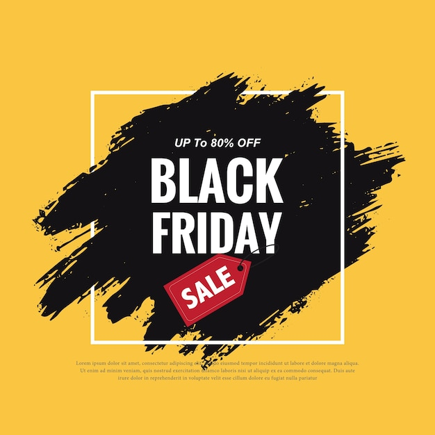 Painted banner for black friday Free Vector