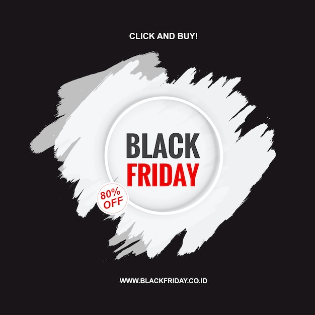 Painted banner for black friday Premium Vector