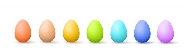 Painted easter eggs Premium Vector