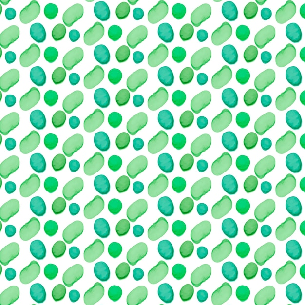 Painted green dotty shapes seamless pattern Free Vector
