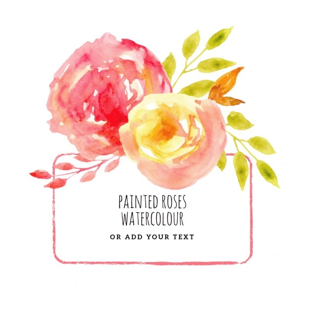Painted Roses Background Vector Free Download