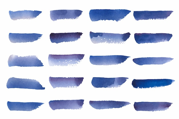 Painted watercolor background vector in blue Free Vector