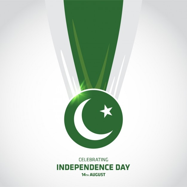Pakistan independence day background disegno Vettore gratuito