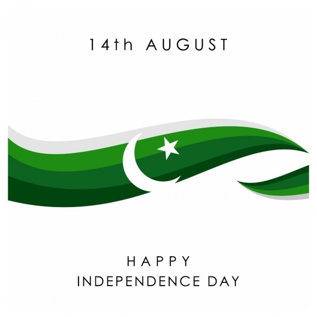 14 agosto pakistan independence day Vettore gratuito