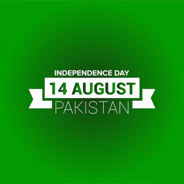 Tipografia del giorno dell'indipendenza del pakistan Vettore gratuito