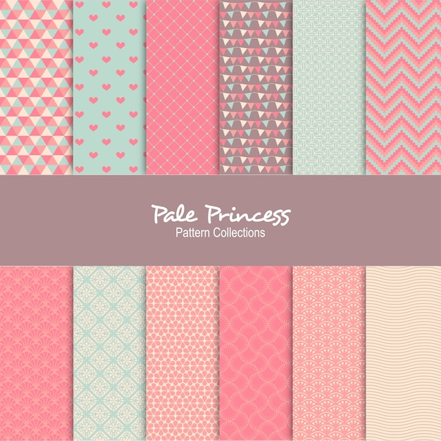 Pale Princess Background Pattern Premium Vector