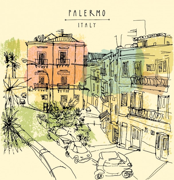 Palermo background design Free Vector