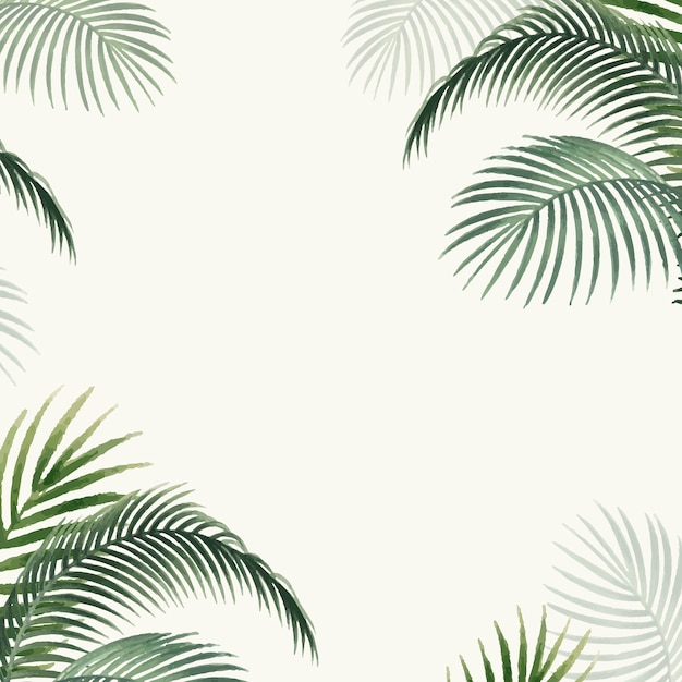 Palm leaves mockup illustration Free Vector