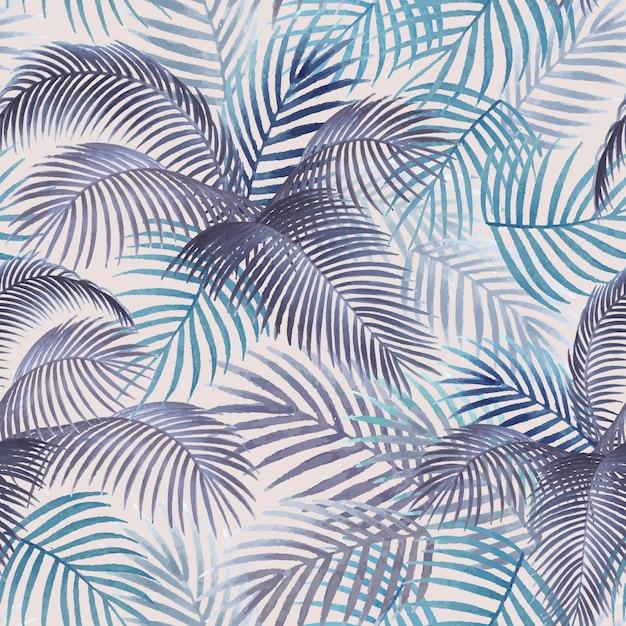 Palm leaves pattern mockup illustration Free Vector