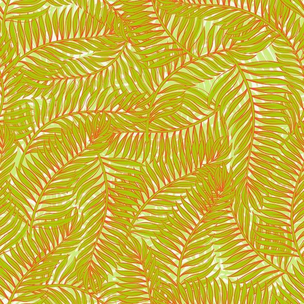 Пальмовые листья Premium векторы
