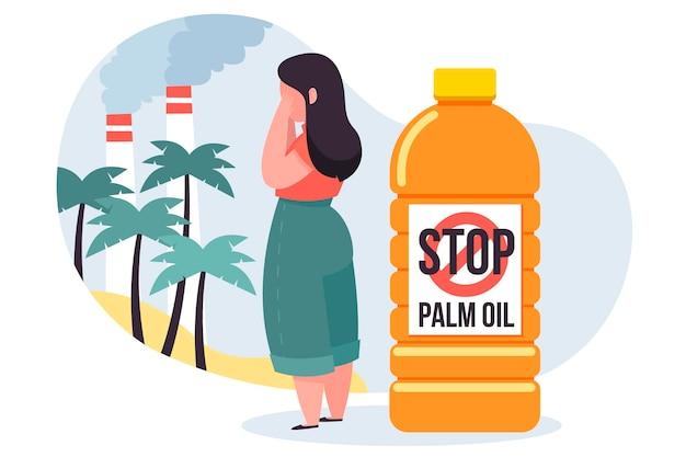 パーム油生産産業の概念 無料ベクター