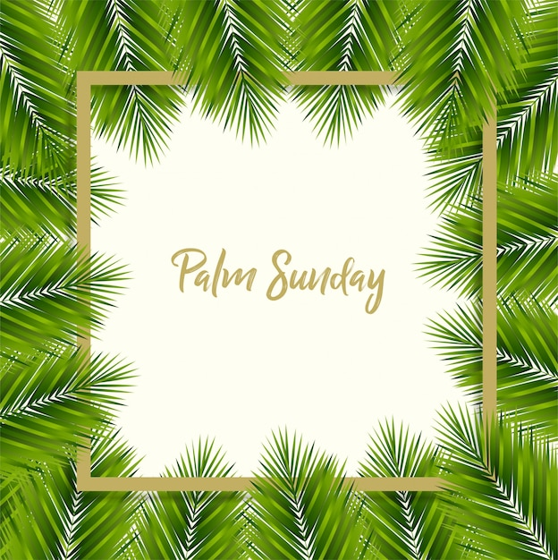 Palm sunday background Premium Vector