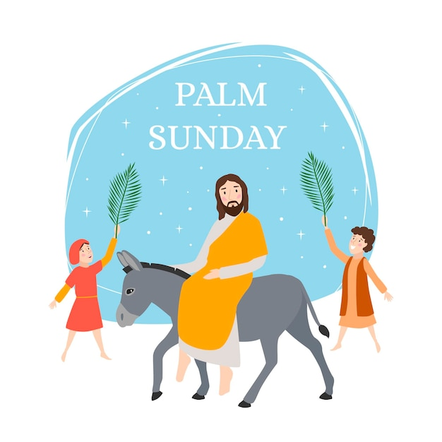Palm sunday illustration Free Vector