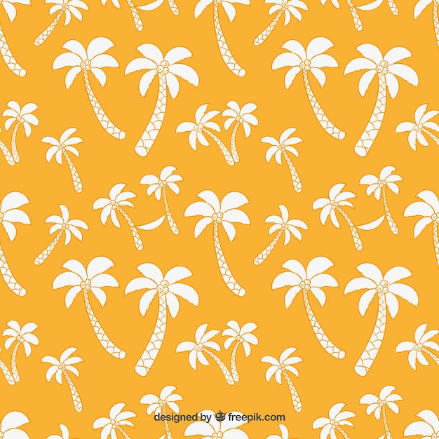 Palm trees pattern Free Vector
