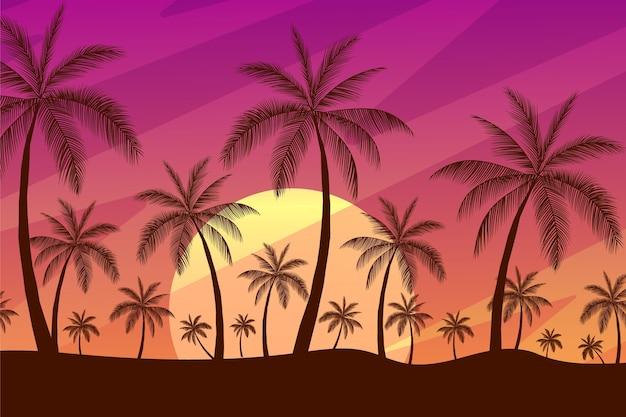 Силуэты пальм Premium векторы